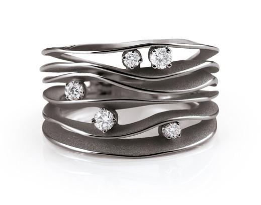 Annamaria Cammilli DUNE Ring Schwarzgold mit Brillanten GAN0914E