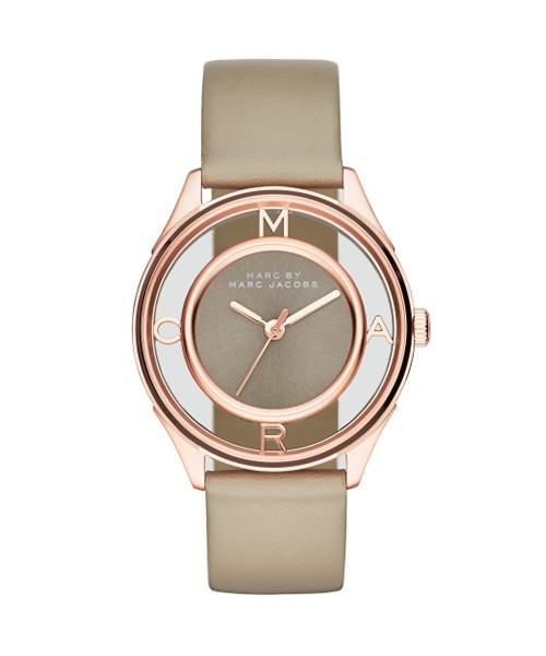 Marc Jacobs Uhr Tether MBM1375 Damenuhr Rosegold mit Lederband zum günstigen Preis online kaufen | UHREN01