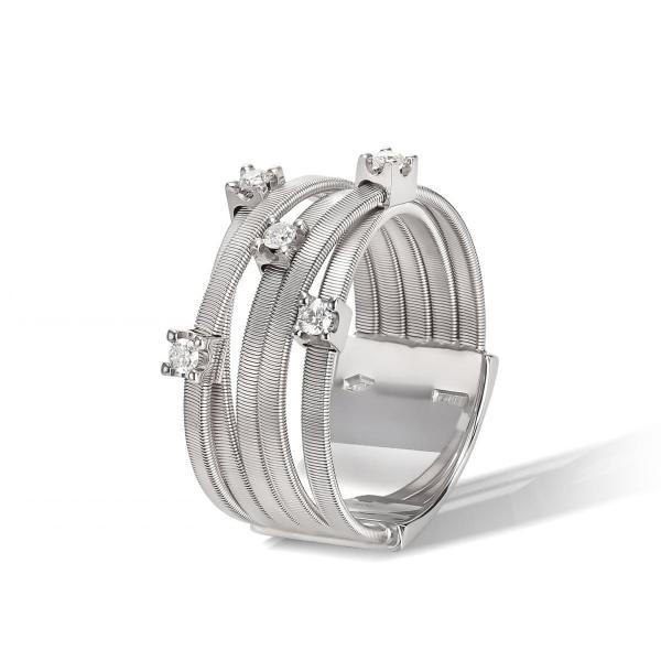 Marco Bicego Ring Goa Weißgold mit Diamanten 5 Stränge AG270 B W