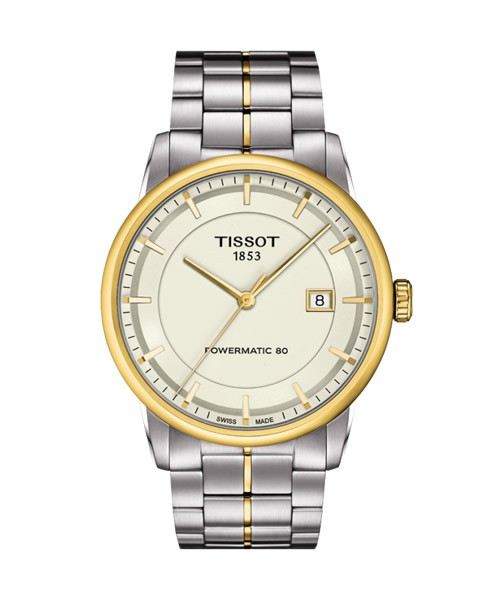 Tissot Luxury Powermatic 80 Bicolor Herrenuhr 41mm Edelstahl-Armband T086.407.22.261.00
