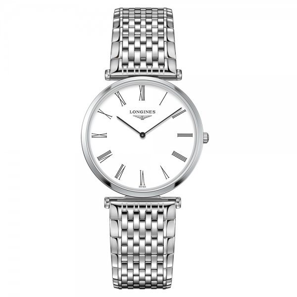 Longines La Grande Classique Damenuhr 33mm Silber Weiß Edelstahl-Armband Quarz L4.709.4.21.6