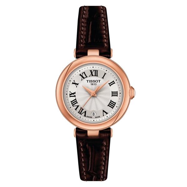 Tissot Bellissima Damenuhr 26mm Rosegold Leder-Armband T126.010.36.013.00